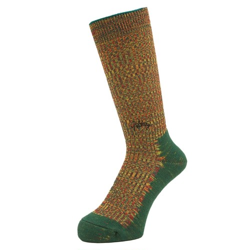 WHIMSY / DOUBLE JACQUARD EMJAY SOCKS -GREEN-