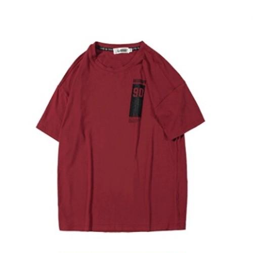 送料無料メンズ大きいサイズ前後ギャップロゴプリント白赤半袖Tシャツ