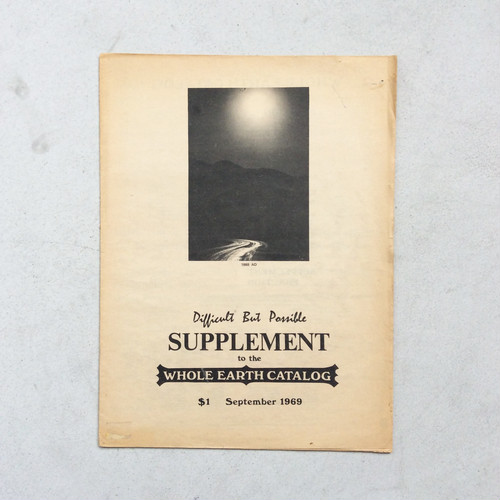 SUPPLEMENT to the WHOLE EARTH CATALOG September 1969