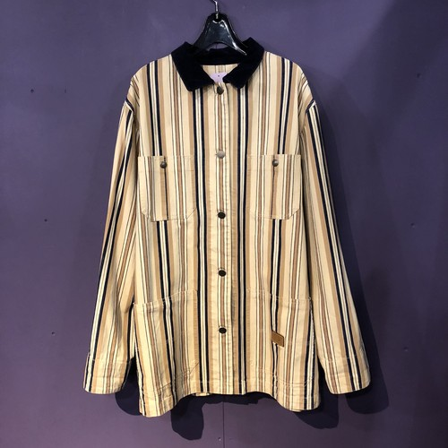 beige stripe ralphlaulen cotton jacket [B1179]