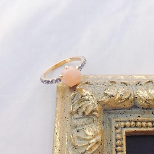 【kiyolakrei】キヨラクレイ キヨラフェ リング 11号 ピンク珊瑚 サファイア K10 b5s02rp (CORALIA)