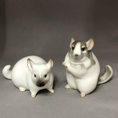 新品 Imperial Porcelain チンチラ ペア セット