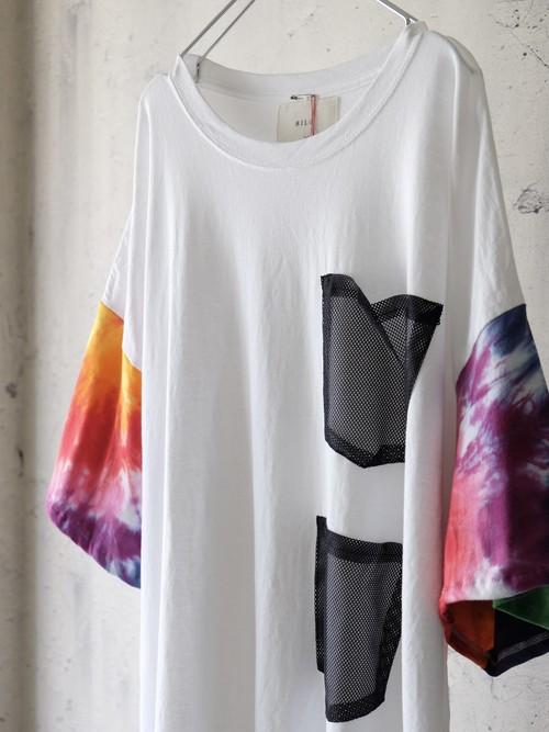 switching tie-dye big T-shirt(rainbow)