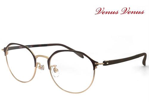 メガネ レディース 2338-6 多角形 眼鏡 女性用 venus×2