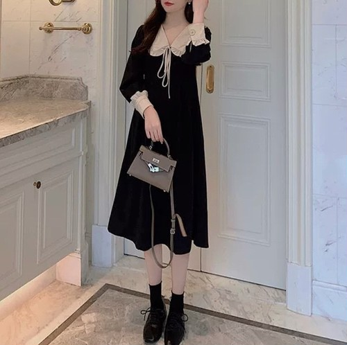 frill black dolly dress