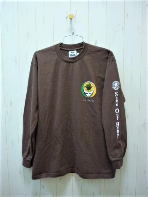 """Save Our Hemp"" L/S T-Shirt 6.5oz. (セーブアワーヘンプ ロングスリーブT-シャツ 6.5オンス)"