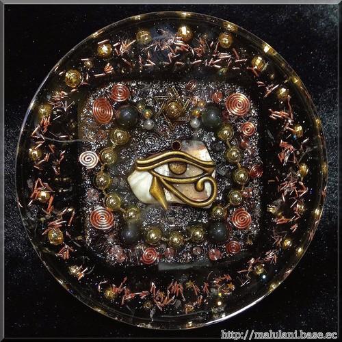 オルゴナイトプレート《エジプト*ラーの目 &パピルス画》