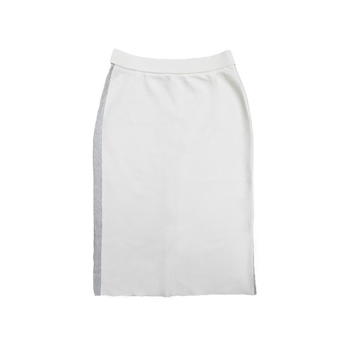 Recycled Cashmere Cotton Lined Add Skirt