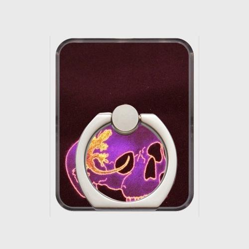 あやかし堂スマホリング・紫系ロゴなし・シルバー