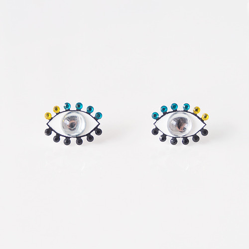 Medama Pierces / Earrings(S) -clear-turqoise-