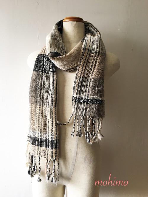 手織りストール シルク Si-004