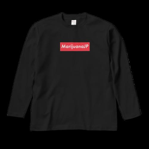 MarijuanaJPオリジナルロゴデザイン【 ロングスリーブTシャツ】(Box logo Red8色)