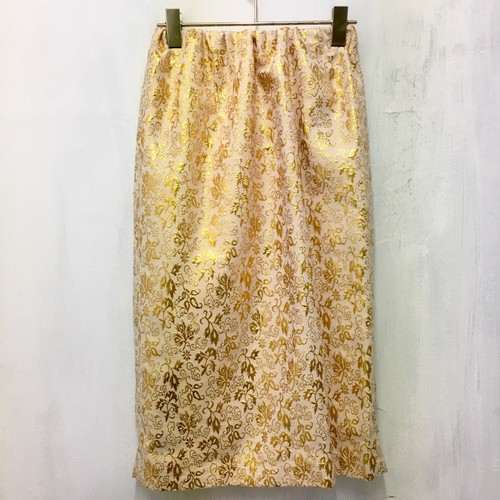 gold china pattern skirt