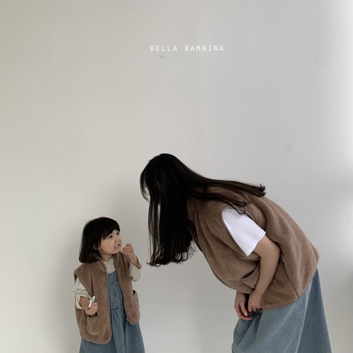 =sold out=over fit vest【mom】〈bella bambina〉