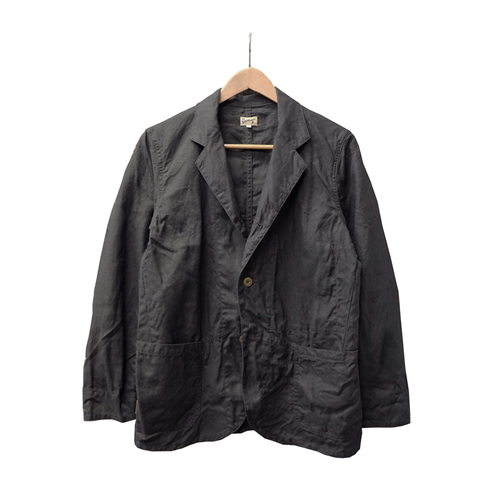 SACK COAT (INK BLACK LINEN)