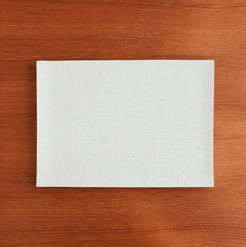 板皿(長方) 白梅花皮