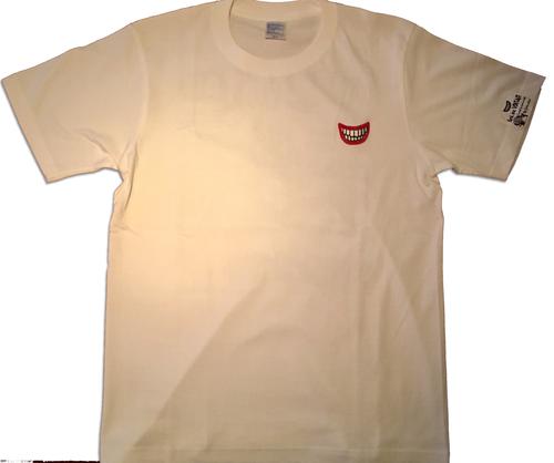 【在庫あり】 【funkキマグレ企画 Tシャツ】染み込みプリント白T×黒