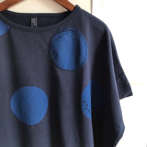 【 NORTHERN TRUCK 】綿コットン BIGドット柄ドルマンTシャツ ネイビー Mサイズ【ノーザントラック】