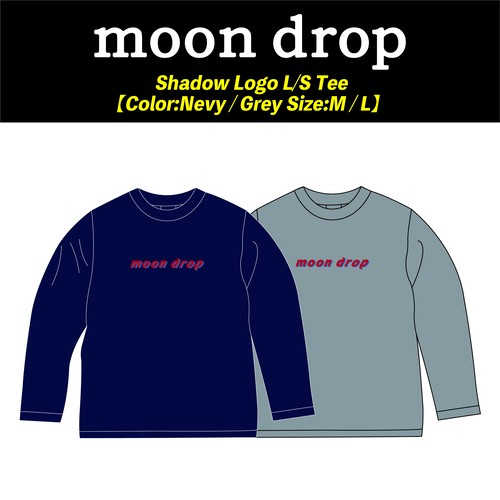 【moon drop】Shadow Logo L/S Tee