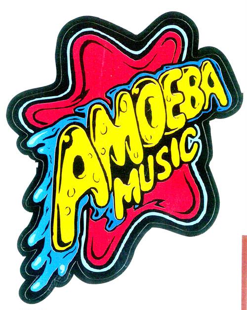 品番0100 Amoeba Music アメーバミュージック ロゴ シール ステッカー 10枚セット アメリカン雑貨 新品雑貨