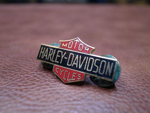VTG Harley-Davidson MOTOR CYCLE バー&シールド ピンバッチ①