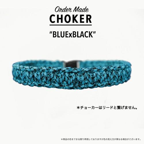 *チョーカー ブルーXブラック