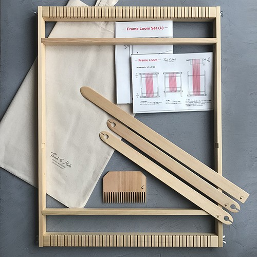 <Found & Made> Weaving Frame Loom Set / 手織り木枠セット (L)