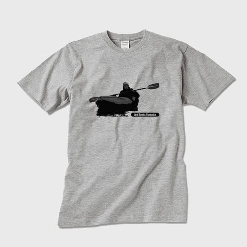 メンズTシャツ パドリングシルエット(Leo R. Yamada)・ブラック グレー