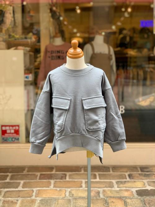 KIDS:FITH【フィス】シルケット裏毛デザインスウェット(グリーン/100〜120cm)