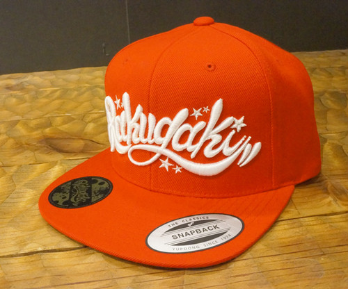 RAKUGAKI Main logo Snap Back Cap Red x White