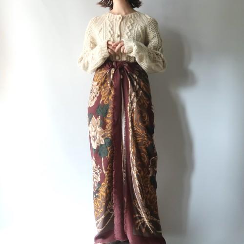 Large square scarf / burgundy