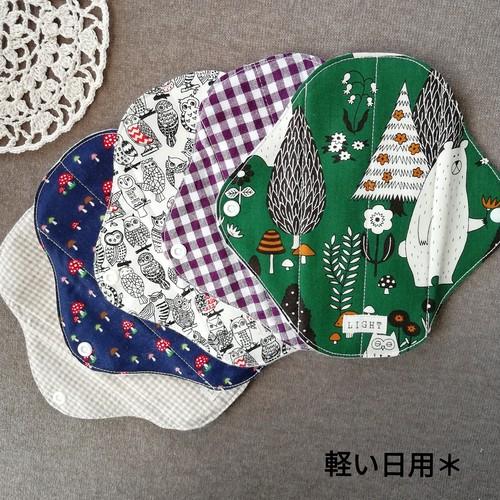 【送料無料】布ナプキン 軽い日用5枚セット[秋柄]