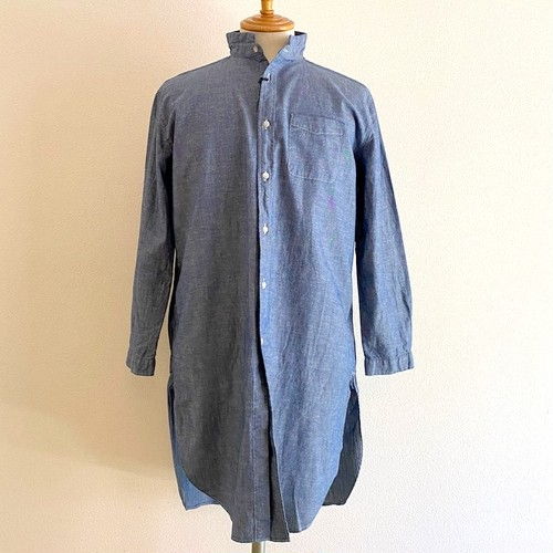 Cotton Linen Dungaree Roma Shirts Coat Navy Cotton Linen Dungaree