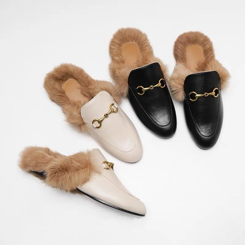 fur loafers 3c's
