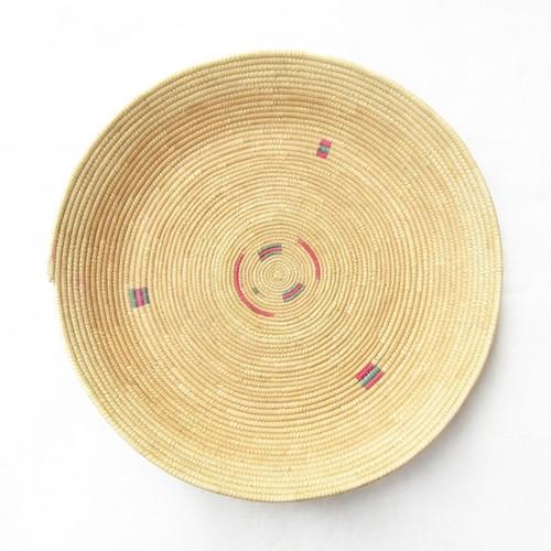 フラニ族の平かご 柄5 / Fulani Basket Pattern 5