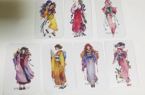 ヌードカード・和服ガール【Kinghezi】7枚入り
