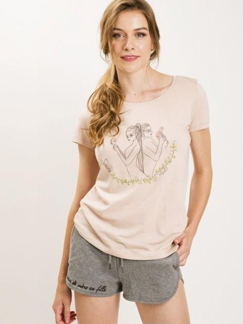 フランス製Tシャツ『SOEURS NUDE COL ROND』