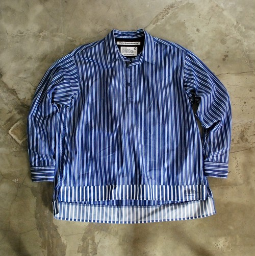 White Mountaineering STRIPE PULLOVER SHIRT