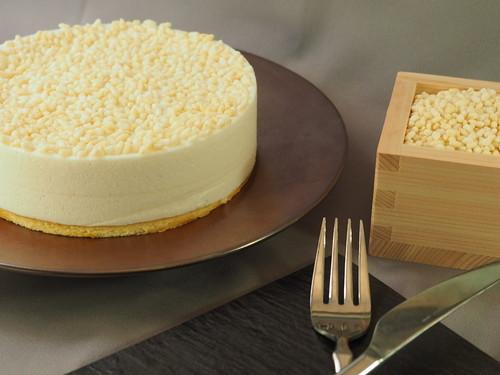 お米で作る⁇レアチーズケーキ  (5号15cm)乳製品なし、グルテンフリー