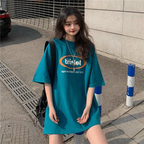 流行り   レトロ  カジュアル  男女兼用  カジュアル  ラウンドネック  半袖  Tシャツ・トップス