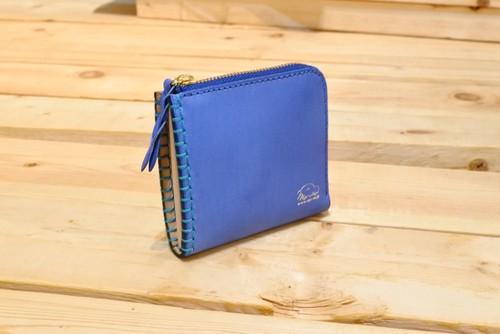【ハーフ】革と糸が選べるオーダーメイドL字ファスナースリム財布