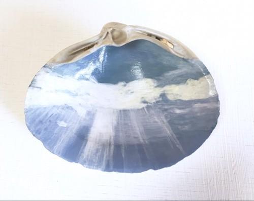 貝殻絵(天使の梯子)