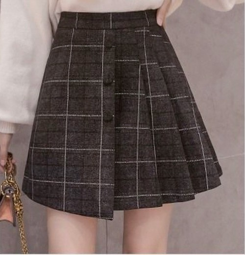 mini check skirt 2color