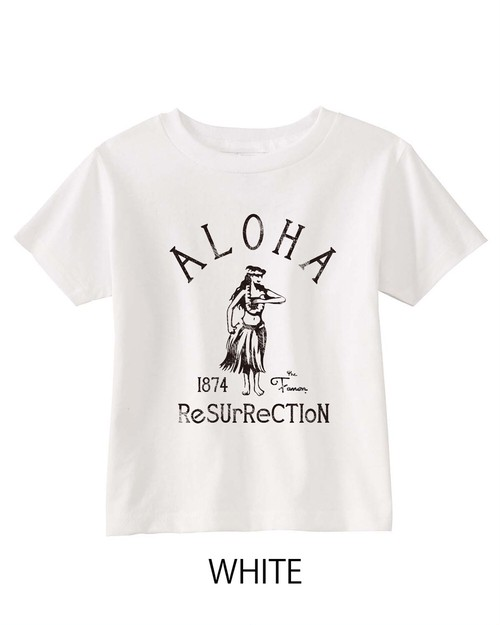 [KID] ALOHA RESURRECTION TEE -WHITE-