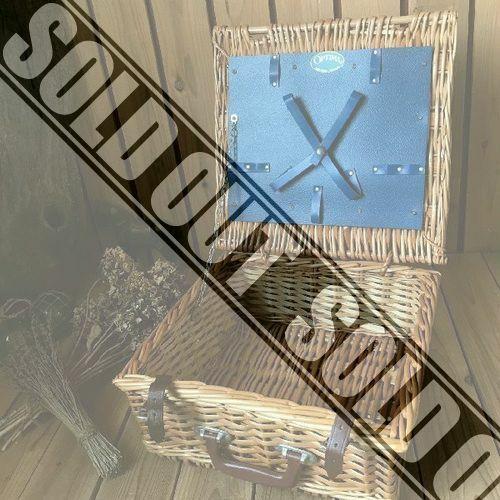 イギリスヴィンテージ*OPTIMAオプティマ古いピクニックバスケットトランク*かごバッグナチュラル英国アンティーク天然ピクニックアウトドア