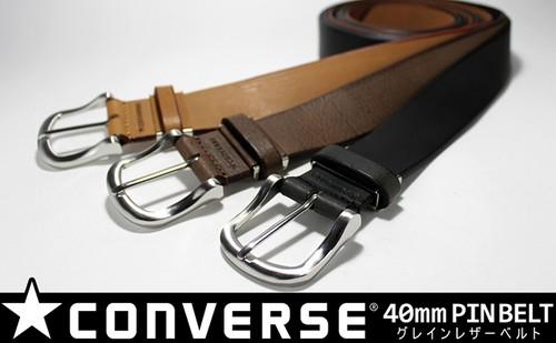 CONVERS(コンバース) 40mm メンズ グレインレザー  カジュアル ベルト 5CV4093
