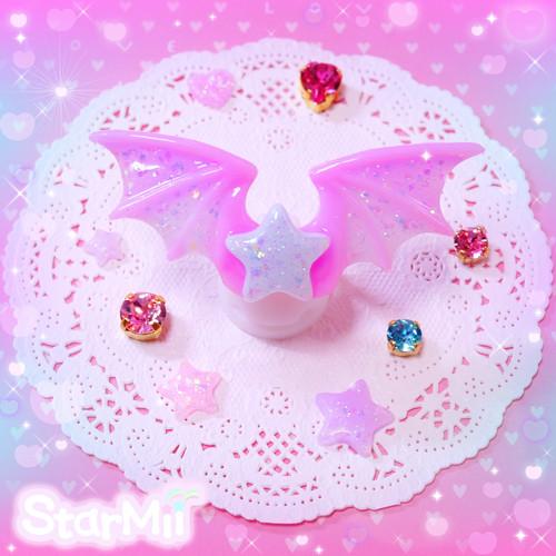 悪魔の羽のリング♪(赤紫)