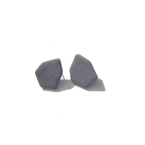 【ポリマークレイ ピアス】 HP1052 - Concrete