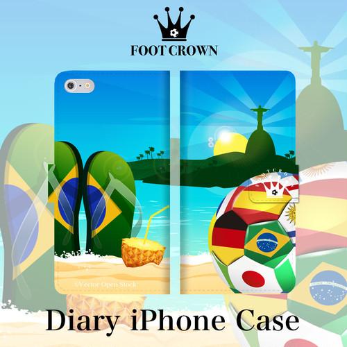 iPhone7 対応 手帳型スマホケース【デザイン52:ブラジリアンビーチ】