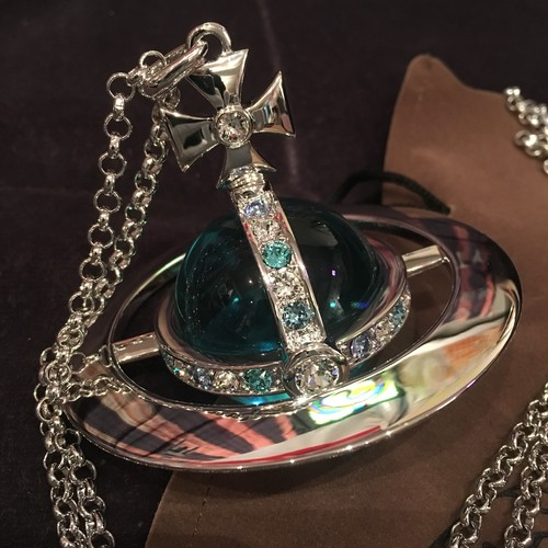 Vivienne Westwood Blue Giant Orb Silver